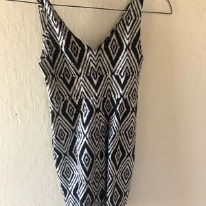 7 for all mankind small black and white dress